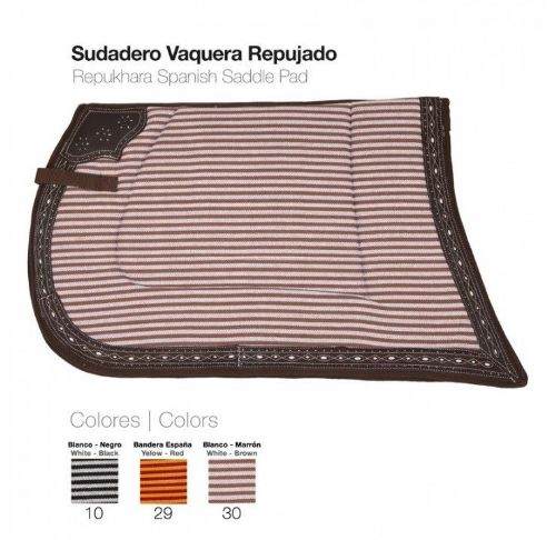 Spanish saddle cloth with leather trim